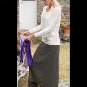 EUC Women's Athleta Blue Gray Maxi Skirt SZ S